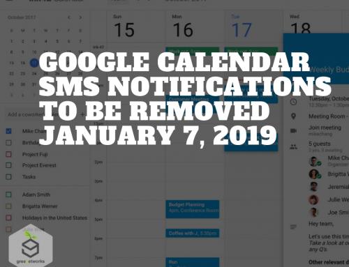 Google Calendar SMS notifications to be removed January 7, 2019 الرسائل التنبيهية من تقويم جوجلسيتم إزالتها في 7 يناير 2019