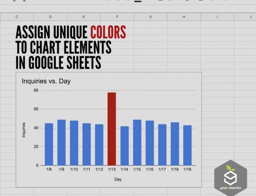 Assign unique colors to chart elements in Google Sheets عيّن ألوانًا فريدة لتخطيط العناصر في جداول بيانات جوجل